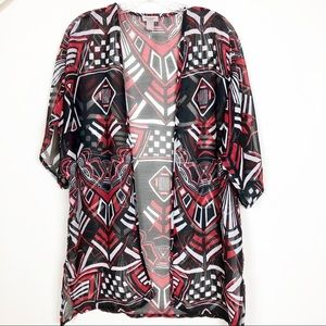 Easywear by Chico's Open Front Tribal Wrap